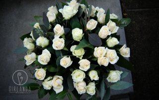 bialy bukiet kwiaciarnia girlanda Białystok