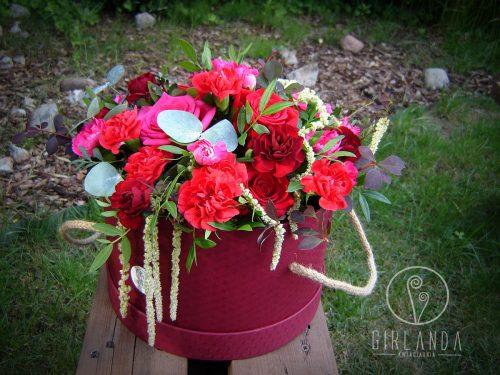 Flowerbox czerwono-różowy 1