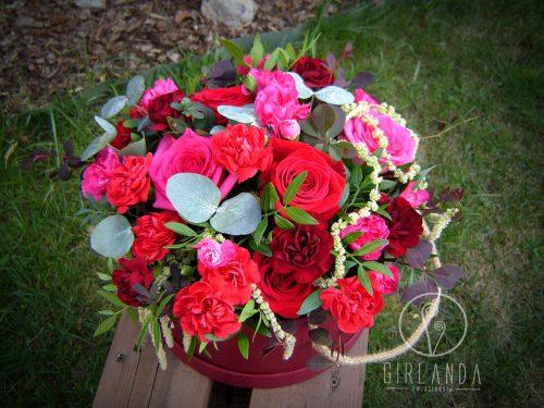 Flowerbox czerwono-różowy 2