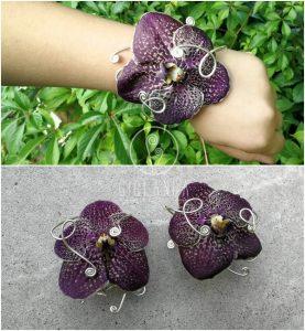 Przykład kwiatu dla rodzica na rękę