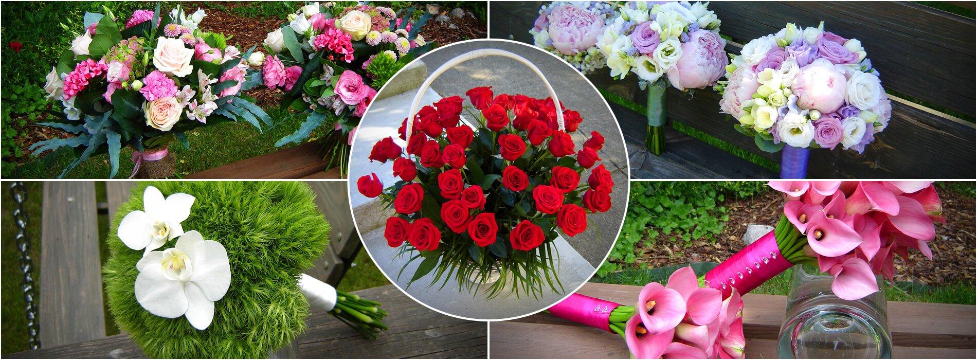 Przykładowe kwiaty na podzienkowania dla chrzestnych