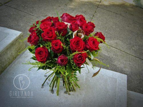 Bukiet 25 czerwonych róż z kwiaciarni wysyłkowej Białystok