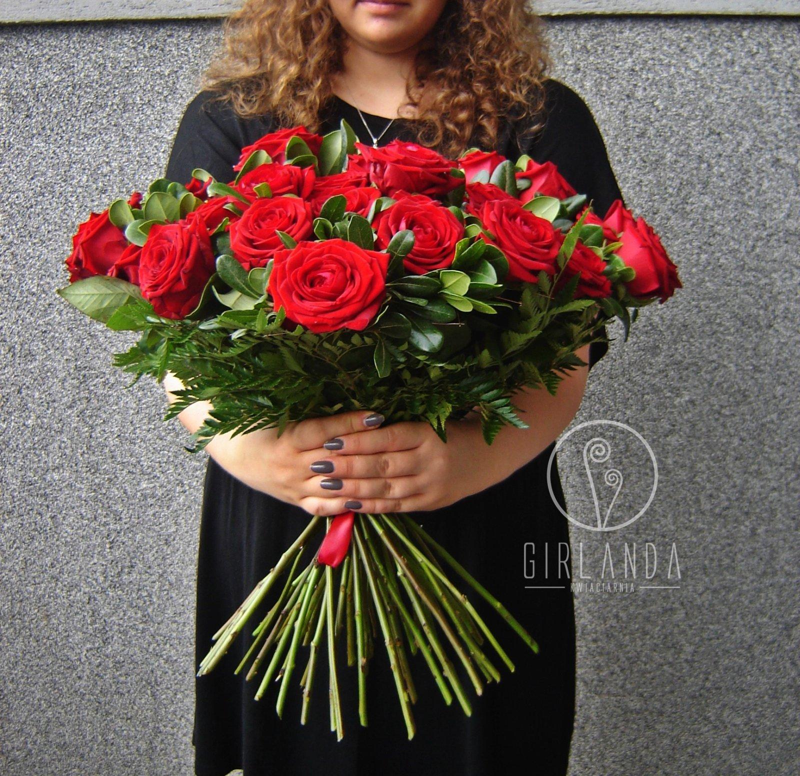 Bukiet czerwonych róż w komplecie Białystok