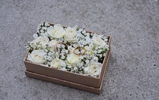 Praktyczne pudełeczka kwiatowe na obrączki Białystok
