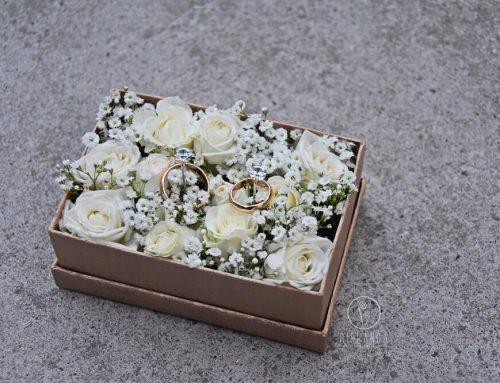 Kwiatowe pudełeczka na obrączki