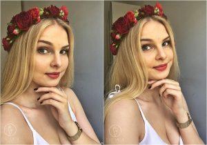 Dziewczyna z wiankiem z kwiatów na głowie Białystok