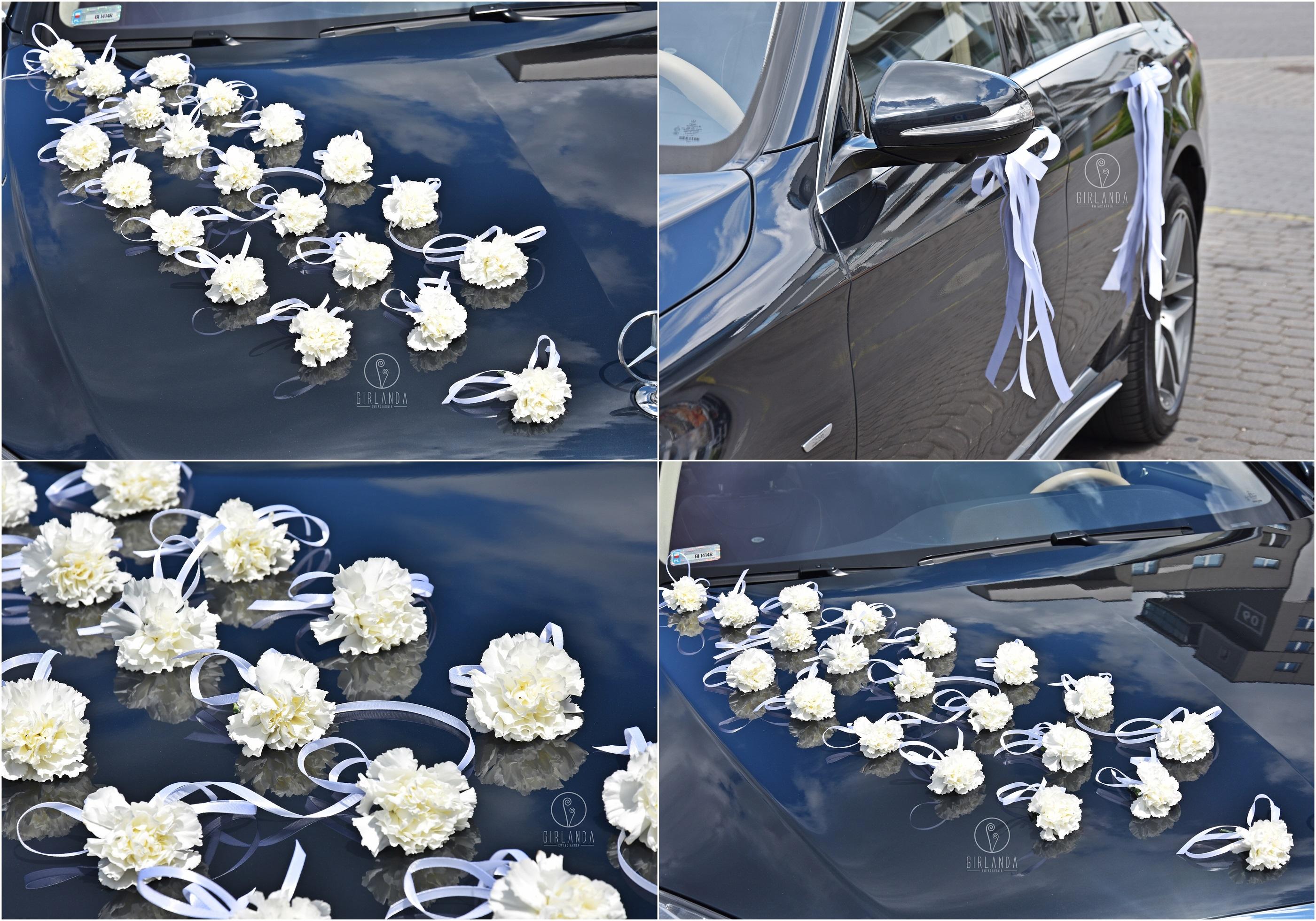 Wybitny Dekoracja samochodu ślubnego Białystok - Kwiaciarnia Girlanda LR56