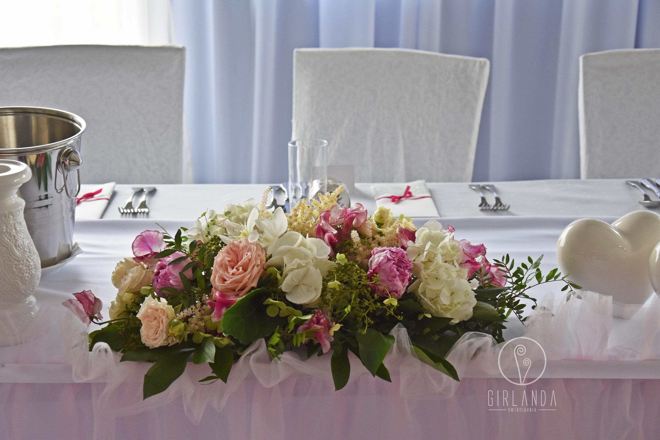 Dekoracje Sal Weselnych Białystok Kwiaciarnia Girlanda