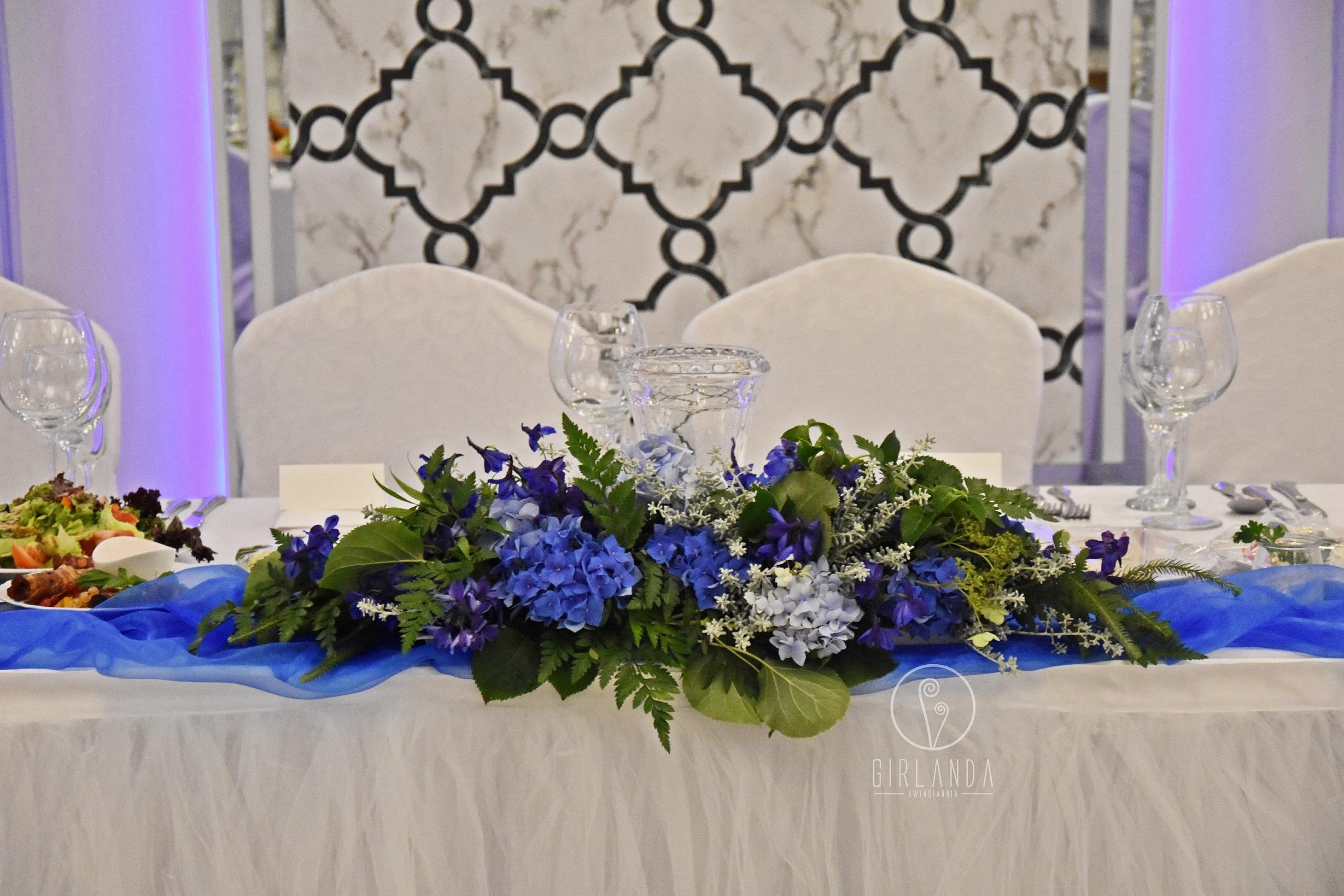 bukiety na stoły weselne