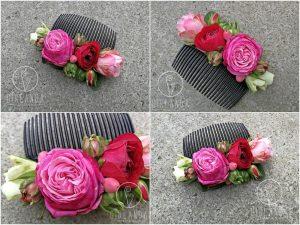 Przykłady grzebyków kwiatowych na wiele okazji