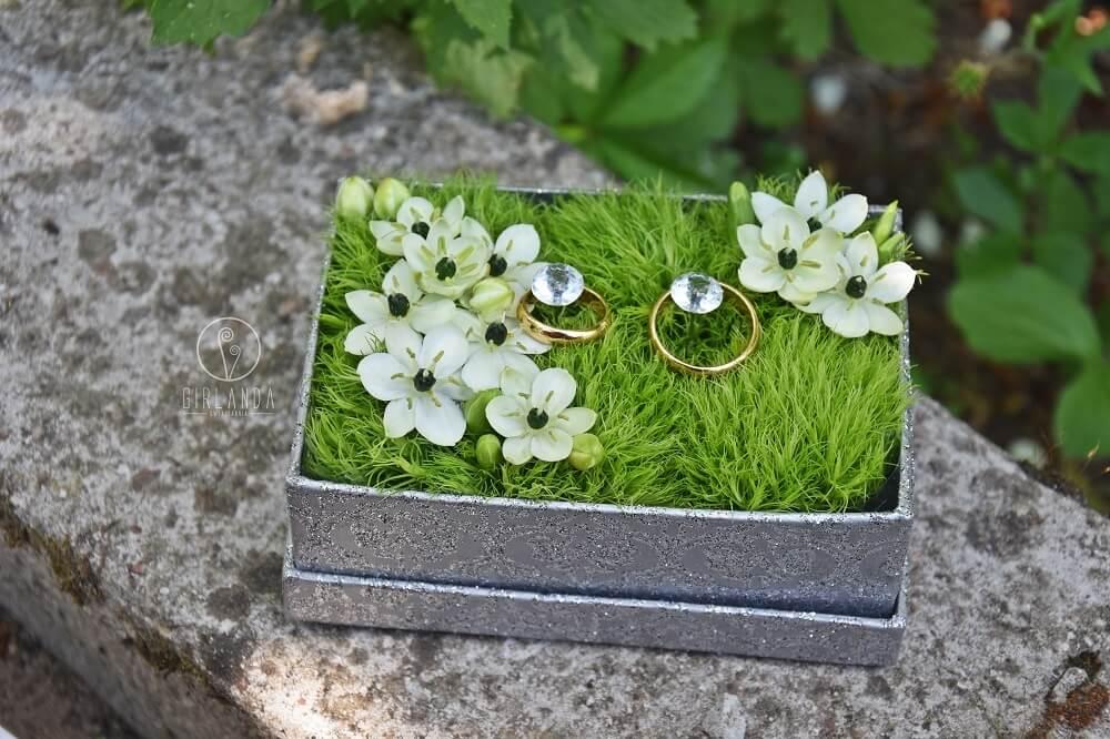 Kwiatowe pudełeczka na obrączki ślubne Białystok