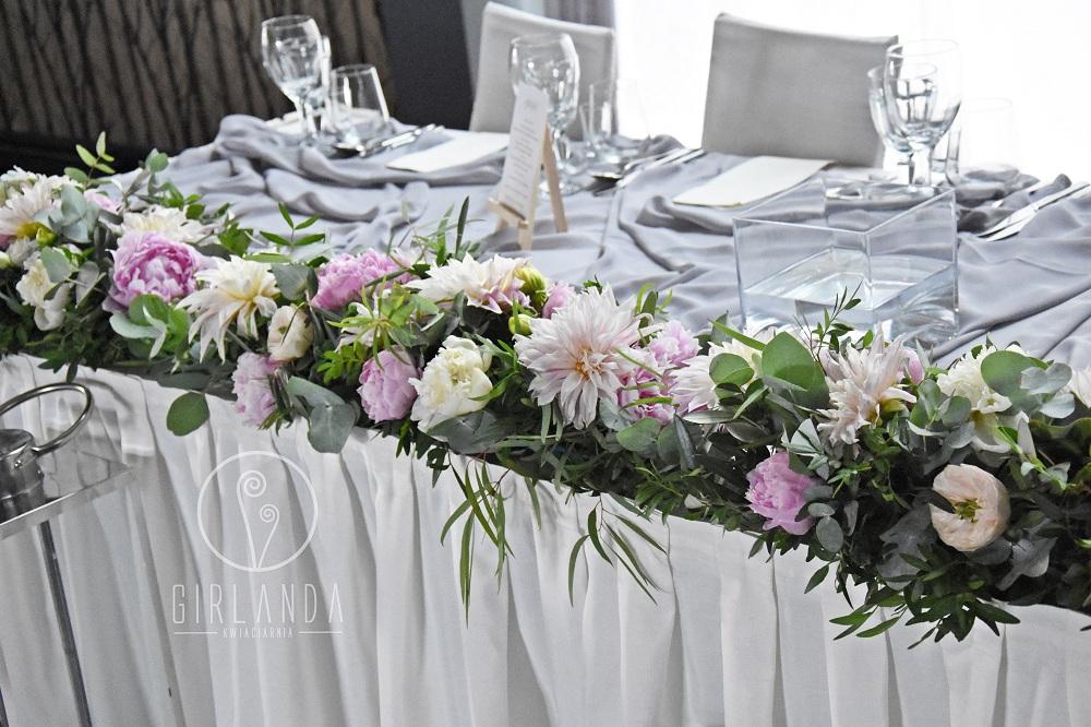 Ogromny Ciekawe pomysły na kwiatową dekorację stołu Młodej Pary SI26