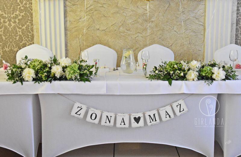 Topnotch Ciekawe pomysły na kwiatową dekorację stołu Młodej Pary PV94