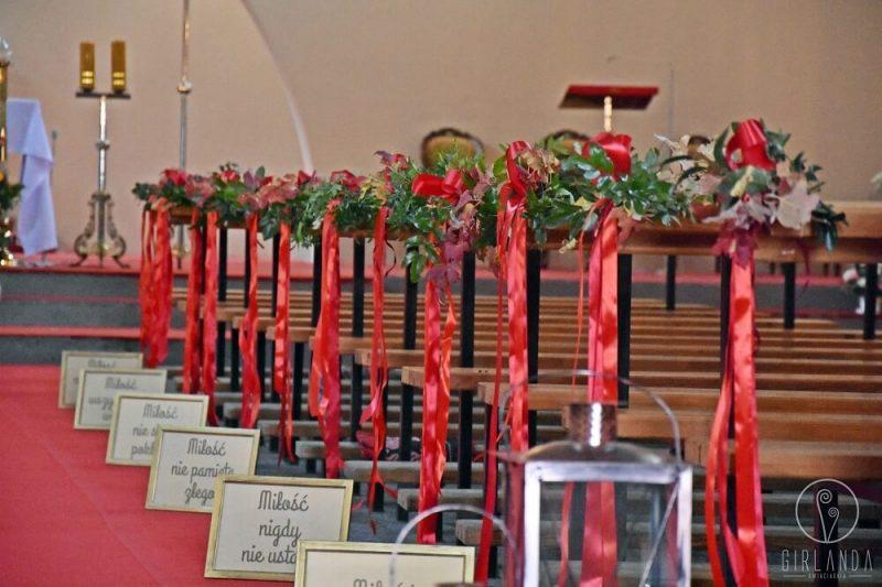 Dekoracja kościoła Girlanda