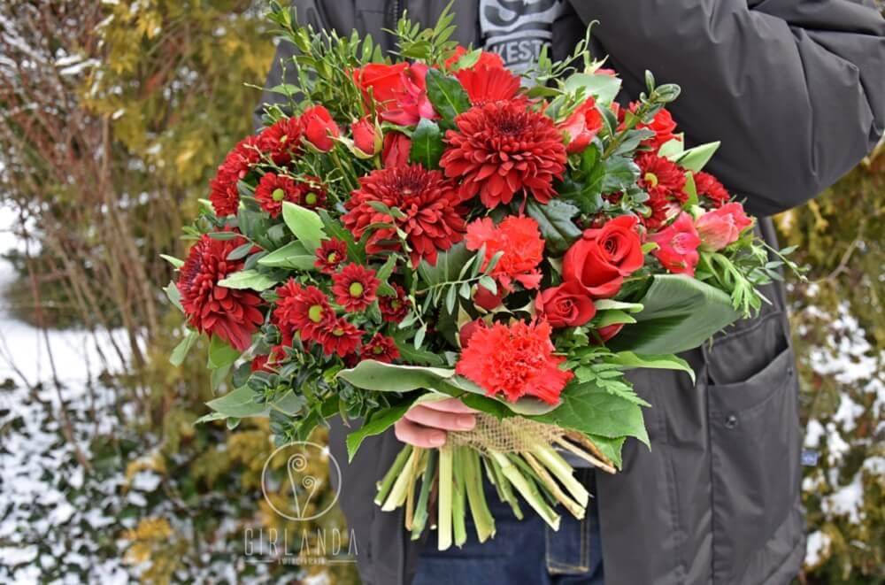 Bukiet róż z kwiaciarni Girlanda
