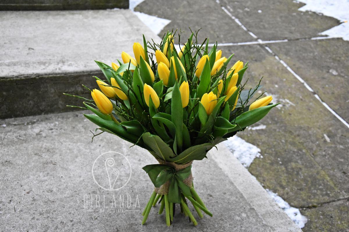 Bukiet żółtych tulipanów