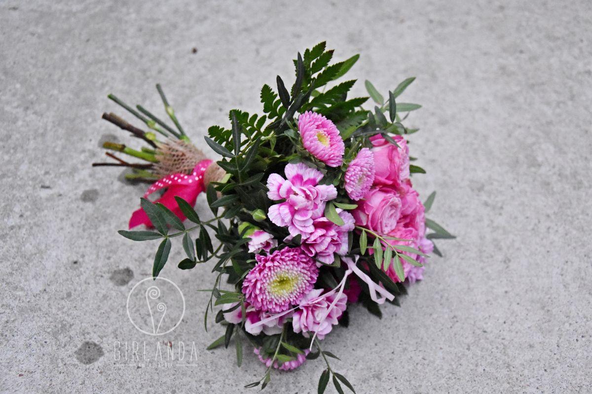 Mały, różowy bukiecik idealny dla Córki czy Wnuczki