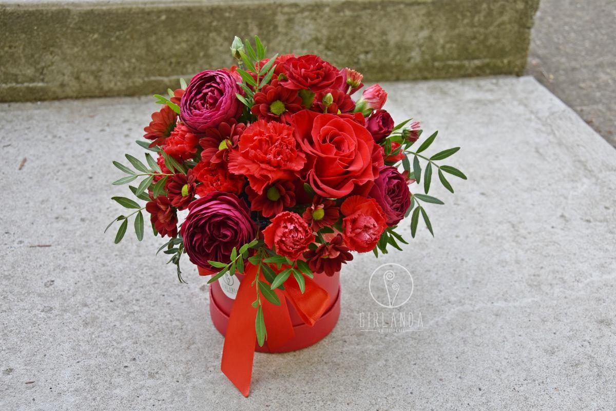 Flowerbox z różami