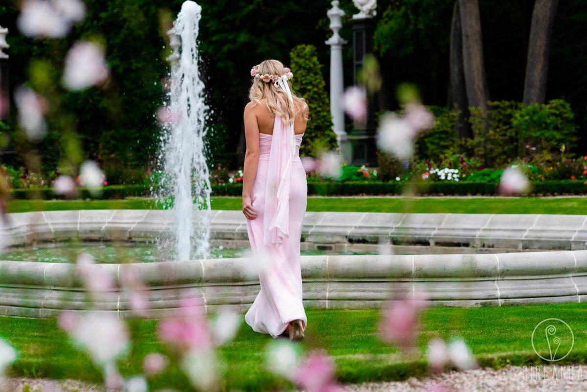 Romantyczny, różowy wianek